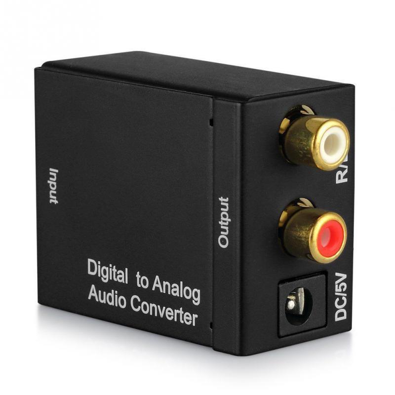 5vdc 1a 0,5 Watt Digital Analog Audio Converter Koaxialkabel Optische Toslink Cinch L/r Adapter Standard Rca Buchsen Audio Schalt Computer & Büro Kvm-switches