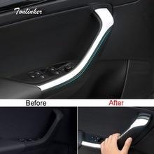 Tonlinker крышка наклейка s для SKODA KODIAQ 2017-18 автомобильный Стайлинг 2 шт. АБС ХРОМ Внутренняя дверь подлокотник положение крышка наклейка