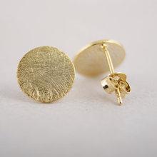 2015 Nouveaux bijoux de mode or/argent/rose cc Cercle boucles D'oreilles Simple Minuscule Goujon rond ED013(China (Mainland))