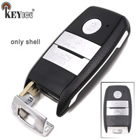 KEYECU 10x for Kia K3 K5 Replacement Smart 3 Button Remote Car Key Shell Case Fob With Uncut Insert Blade