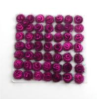 50pcs Fluffy DIY Roses Rabbit Fur Ball Key Chain Cute Cream Black Pompom Mink Fur Keychain