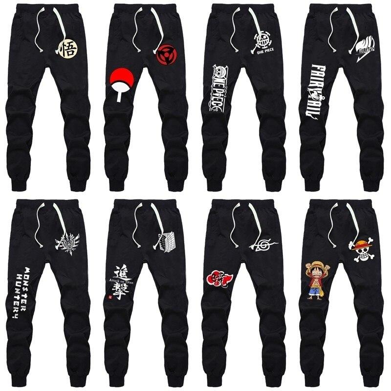 Anime Naruto Sasuke Cosplay Casual Pants Cotton Sports Pants Trousers Sweatpants