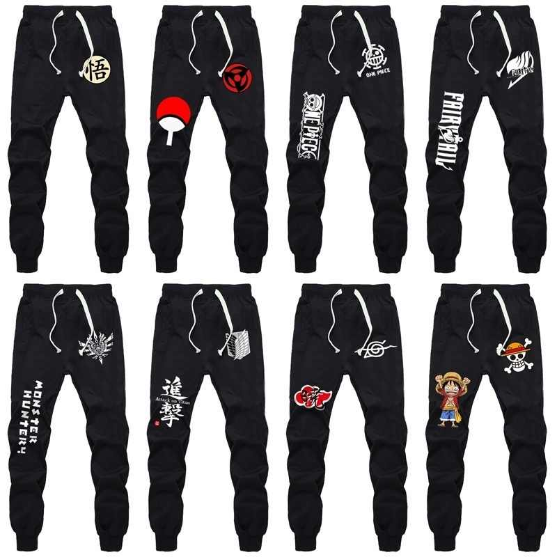 New Sports Sweat Pants Straight Pants Anime Dragon Ball Naruto ONE PIECE Fairy Tail Sweatpants Jogging Long Pants