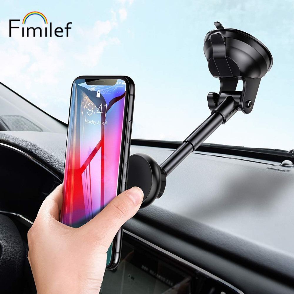 Fimilef Magnet Car Phone Holder For IPhone X XS 8 7 Plus Windshield Car Mount Phone Stand 360 Car Holder For Samsung S9 S8 Note