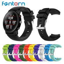 Fentorn Smart Accessories for Amazfit Stratos Watchband strap for Xiaomi Watch 1 2 Amazfit Pace Soft Silicone Replacement Band