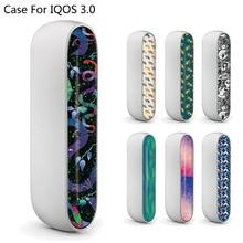 Разноцветные, материал ПВХ печать наклеек для IQOS 3,0 боковая крышка для IQOS 3 E сигареты двери Крышка наклейки