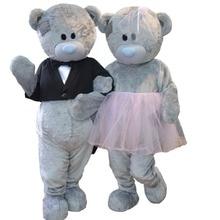 Свадебный плюшевый носить талисман, костюмы Teddies bear babydolls косплей костюмы для Хэллоуина Carival вечерние события