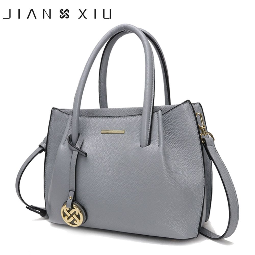 JIANXIU Brand Genuine Leather Handbag Bolsa Feminina Luxury Handbags Women Bags Designer Shoulder Bag 2018 Fashion Large Tote women genuine leather handbag brown ladies shoulder bags high quallity female tote purses handbags designer brand bolsa feminina