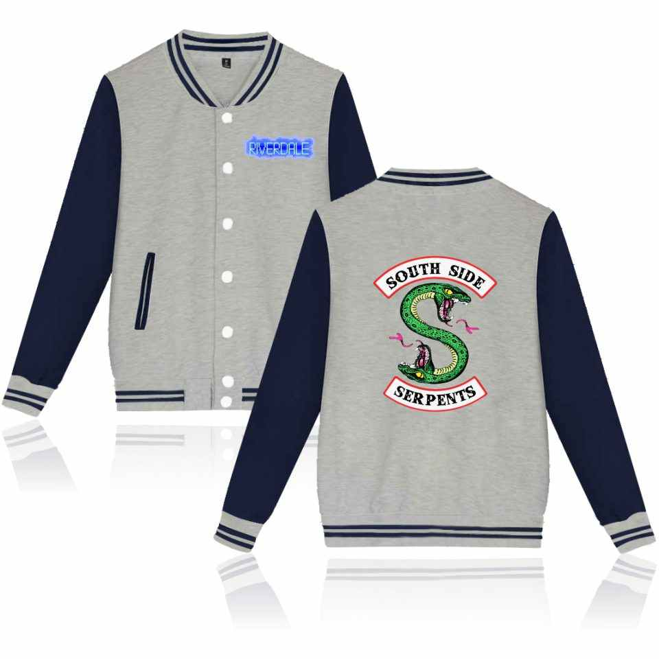 New 2018 Spring Riverdale Hit TV Play Baseball Jacket Men/Women Casual College Uniform Coat Jacket Women Streetwear Coat