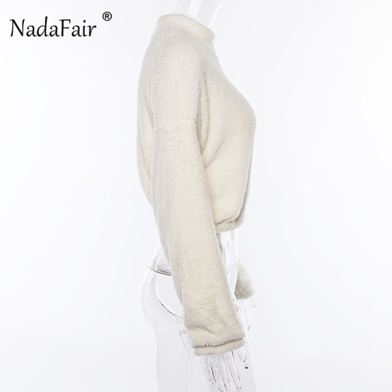 white zipper turtleneck hoodies18