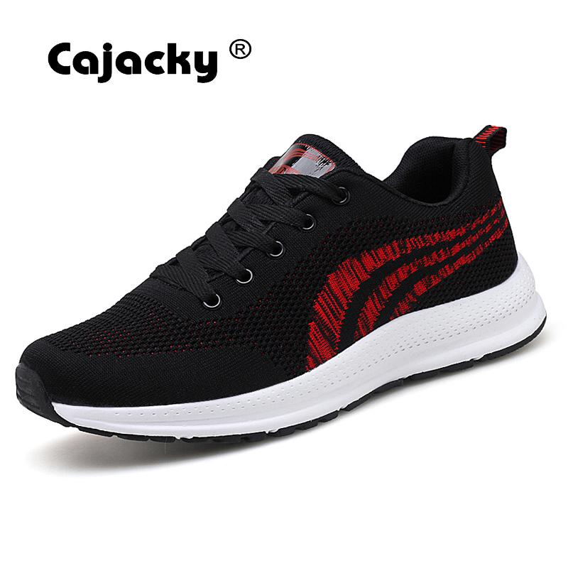 Cajacky Plus Size 47 48 Men Shoes Summer Breathable Mesh Sneakers Male Lace Up Trainers Fashion Casual Shoes Chaussure Hommes cajacky unisex sneakers 2018 mesh casual shoes men mesh lace up male fly weave krasovki men fashion light breathable trainers