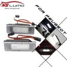Cheap Led license plate luz para Peugeot 607 Sedan 4D, 806,807, Expert III, 106 3D, 508 SEDAN 4D 12 v número SMD conduziu a luz de licença