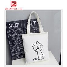 2018 NEW Hot Better Luck Tomorrow Letter Printing Canvas Handbag Mini Single Shoulder Bag Cartoon Cute Black White Women