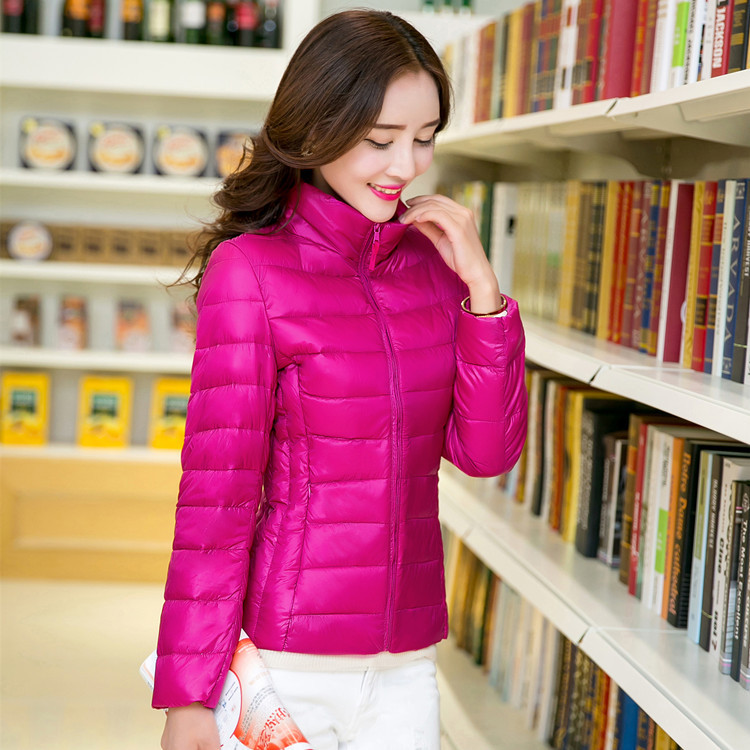 new 2019 winter clothing Female ultra thin   down   jacket Brief paragraph   coat   big yards of cultivate one's morality