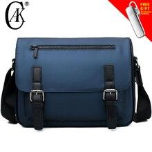 CAK Brand Men Business Briefcases Messenger Bags High-grade Waterproof Man's Nylon Crossbody Shoulder Bag For A4 Files iPad