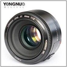 Supon In Stock!YONGNUO YN50mm f1.8 YN EF 50mm f/1.8 AF Lens YN50 Aperture Auto Focus for Canon EOS DSLR Cameras hot selling