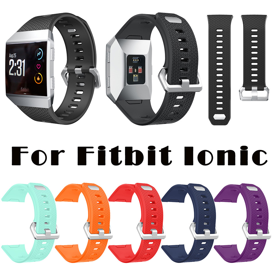 FOHUAS for Fitbit Ionic Bands Classic Accessories Durable Band Sport Metal Clasp Replacement Wristband for Smart Fitness Watch replacement accessory metal watch bands bracelet strap for fitbit alta fitbit alta hr fitbit alta classic accessory band