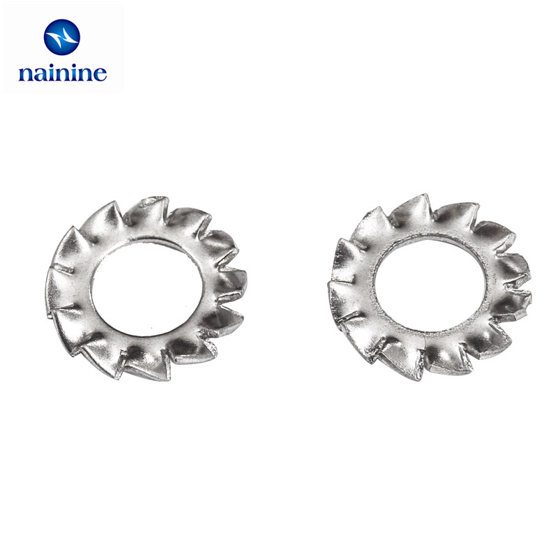 100Pcs DIN6798A M2.5 M3 M4 M5 M6 M8 M10 304 Stainless Steel Washers External Toothed Gasket Washer Serrated Lock Washer HW051 50 pieces metric m4 zinc plated steel countersunk washers 4 x 2 x13 8mm