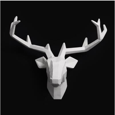 2016 Time limited Home Decoration Accessories Furnishing Wood Resin Animal Head Hanging font b Pendant b