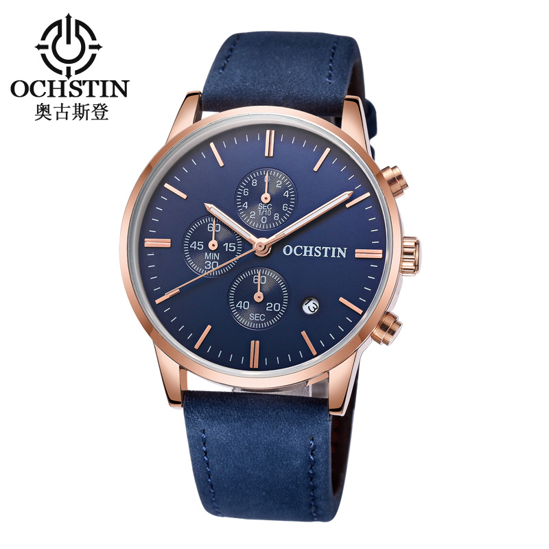 OCHSTIN Men Watch Top Brand Luxury Fashion Quartz Wristwatch Sport Military Leather Watch Men Waterproof Clock Relogio Masculino mens watch top luxury brand fashion hollow clock male casual sport wristwatch men pirate skull style quartz watch reloj homber