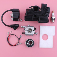 Carburetor Ignition Coil Air Filter Housing Kit For Stihl MS180 MS170 018 017 MS 180 170 Walbro Carb Chainsaw Part