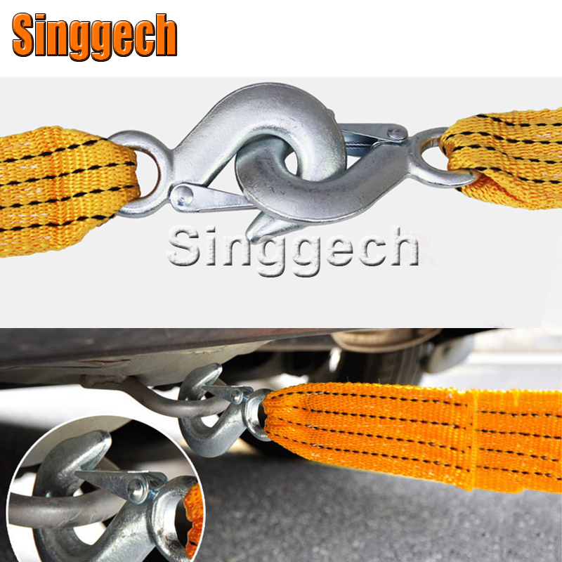 1X Car Towing Rope 3 Meters 3 Tons For Jeep Renegade Wrangler JK Grand Cherokee For Volvo XC90 XC60 S90 S60 V70 S40 V40 V70 windshield pillar mount grab handles for jeep wrangler jk and jku unlimited solid mount grab textured steel bar front fits jeep