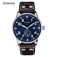 ANANKE Waterproof Sport Business Quartz Watch Casual Fashion Date Military Chronograph Timepiece with Numbers Relogios Masculino(China)