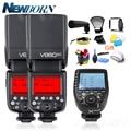 Беспроводной триггерный передатчик вспышки для Canon  2x Godox  вспышка V860IIC Speedlite GN60 HSS 1/8000s TTL  светильник + беспроводной триггерный передатчик всп...