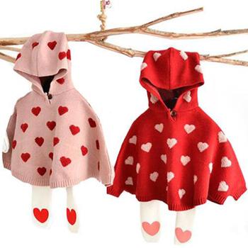 2019 dziewczęcy płaszcz sweter dziecięcy dzianinowy sweter dziecięcy nietoperz sweter z rękawem dziewczęcy odzież dzianinowy ubranka dla dzieci dzianinowy z kapturem tanie i dobre opinie PATTERN Jednego przycisku Dziewczyny Pełna Kaszmirowy COTTON Akrylowe Pasuje prawda na wymiar weź swój normalny rozmiar