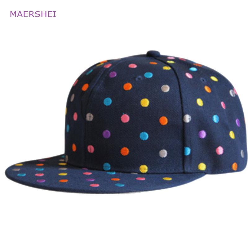 MAERSHEI Kids hat little embroidery baseball caps girls cap wild casual hip hop hip hop flat hats