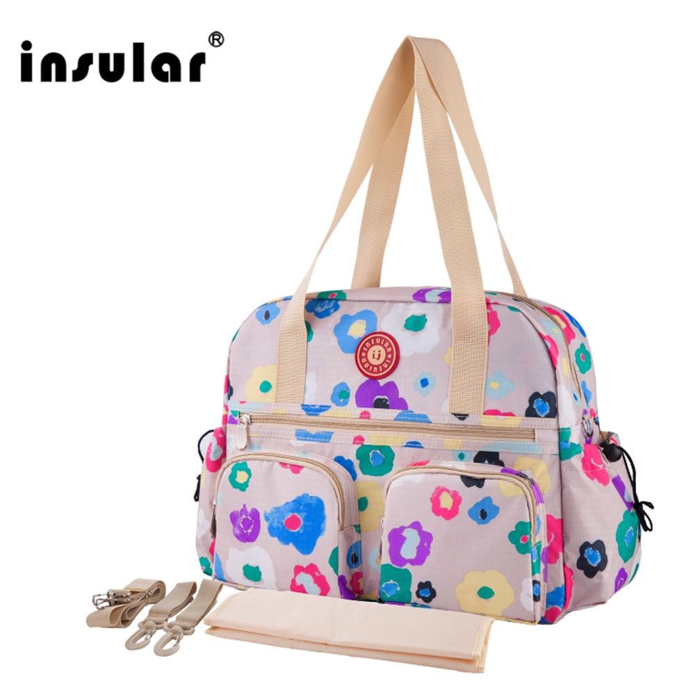 W nowym stylu Insular z nadrukiem modna torba na pieluchy dla - Pieluchy i Trenowanie toalety - Zdjęcie 6
