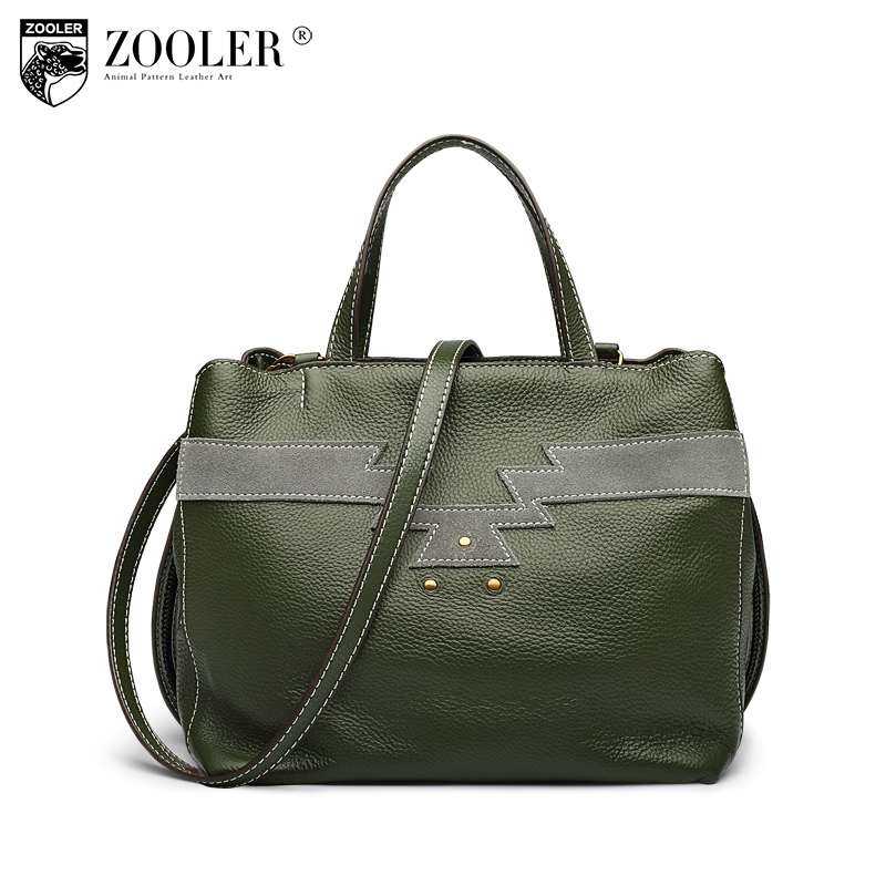 ZOOLER Brand Genuine Leather handbag bags women luxury crossbody bags Casual shoulder bag for women Leather messenger bag C109 zooler fashion casual shoulder bag crossbody bags luxury brand designer handbag women high quality genuine leather purse h123