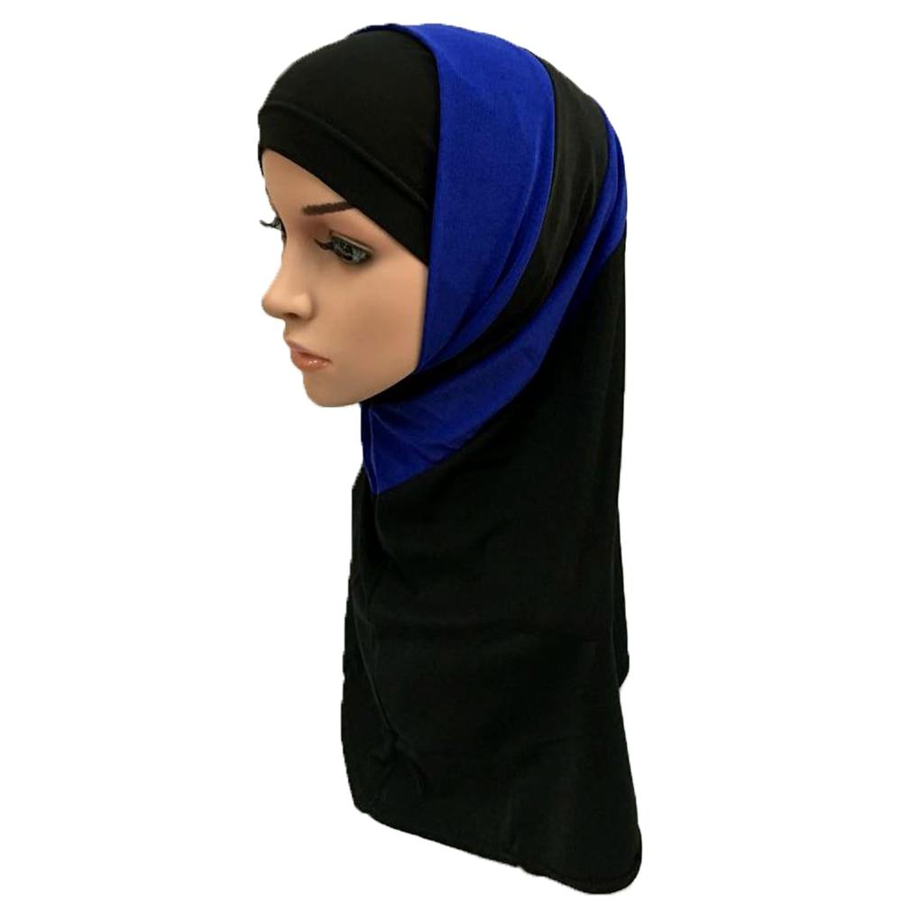 Ramadan Mixed Colors 2 Pieces Amira Hijab Muslim Hijab Islamic Scarf Polyester