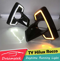LED DRL For Toyota Hilux Rocco 2018 Daytime Running Light Fog Driving Lamp