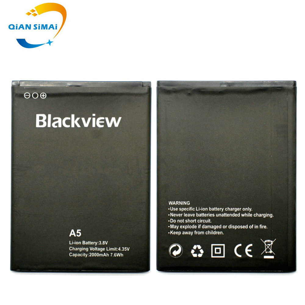 QiAN SiMAi 1PCS New 100% High Quality Blackview <font><b>A5</b></font> <font><b>Battery</b></font> For Blackview <font><b>A5</b></font> Mobile Phone + Track Code image