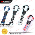1 Set Car Styling For Mini Cooper Car Key Chain Keychian Case Accessories F54 F55 F56 Countryman Clubman JCW Grey Union Jack