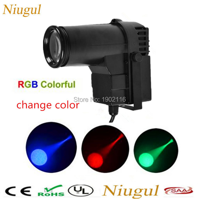 Niugul Mini 10W RGB change color LED Spotlight Mount Pinspot DJ disco party Effect Stage Lighting cheap price with Free shipping niugul dmx stage light mini 10w led spot moving head light led patterns lamp dj disco lighting 10w led gobo lights chandelier