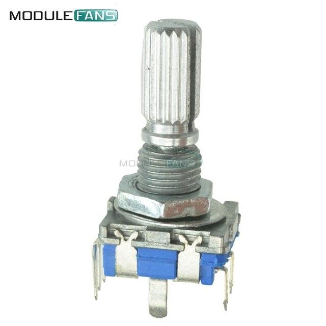 2pcs 20mm EC11 Rotary Encoder Audio Digital Potentiometer with Switch Handle EC11 Switch