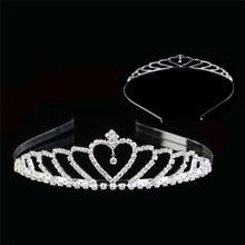 Princess Crown for Girls Show Bridal Crown Tiara Diadem Silver Crystal Floral Wedding Bridal Hair Accessories Head Jewelry crystal show