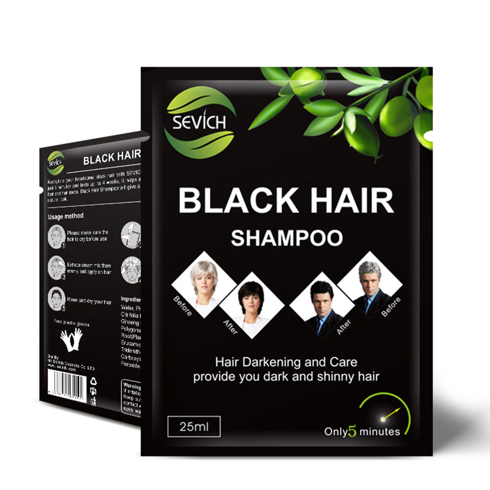 Instant Black Hair Shampoo Grey And White Hair Darkening And Shinny In 5 Minute Sevich Brand Black Hair Shampoo Dropshipping