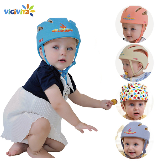 058f39f96 US $12.99 30% OFF|Baby Hat Cotton Safety Helmet For Babies Protective  Helmet Infant Protection Hats For Baby Care Children Cap For Boys Girls  Hat-in ...