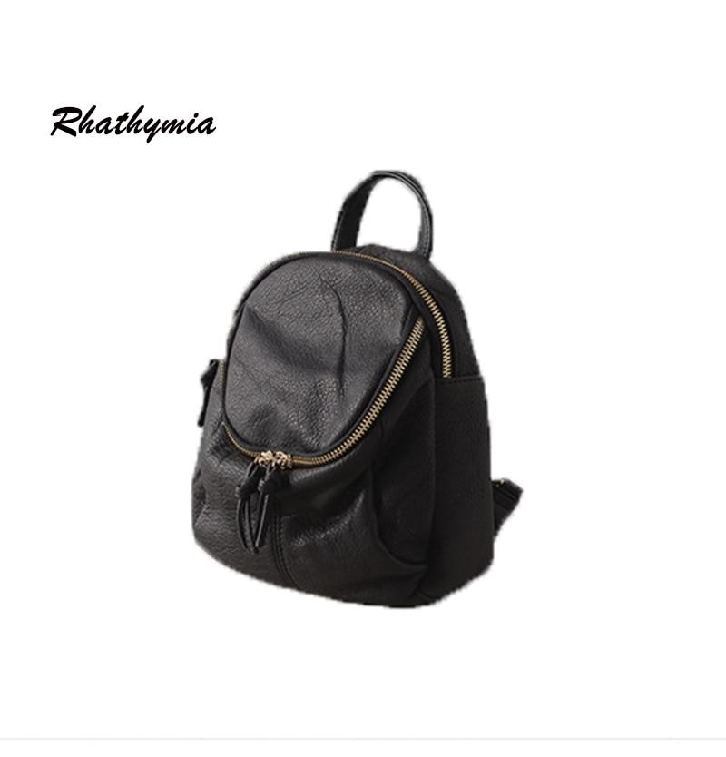 2017 women backpack 100 genuine leather fashion school bag female backpacks high quality