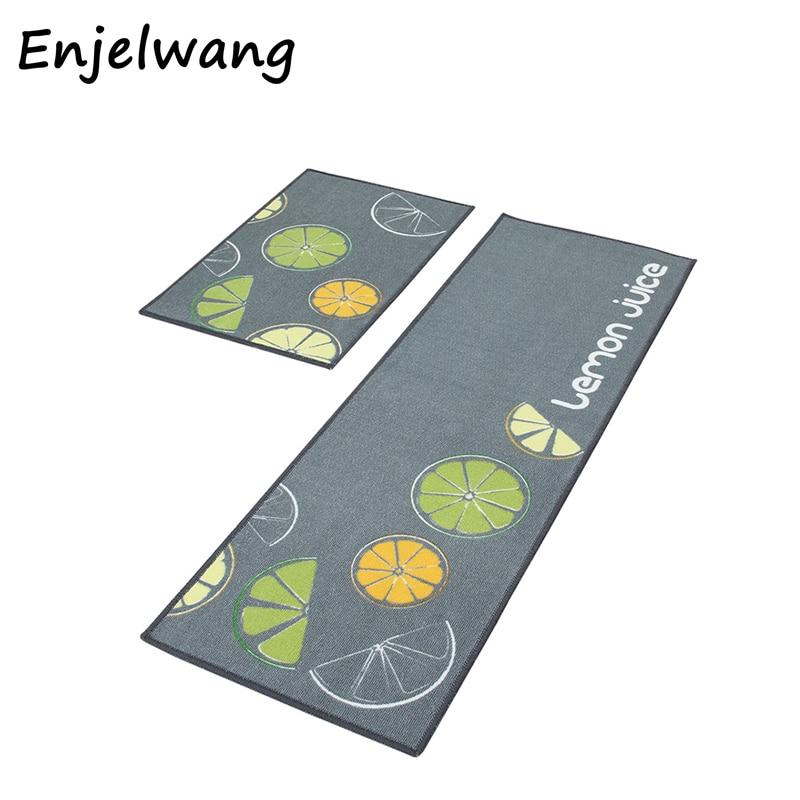 2pcs/set Cartoon Kitchen Floor Mat Anti slip Kitchen Rugs Bedroom Living Room Decorative Soft ...