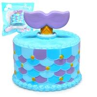Jumbo Squishy Cute Mermaid Cake Squishies Super Slow Rising Cream Scented Original Package Phone Strap