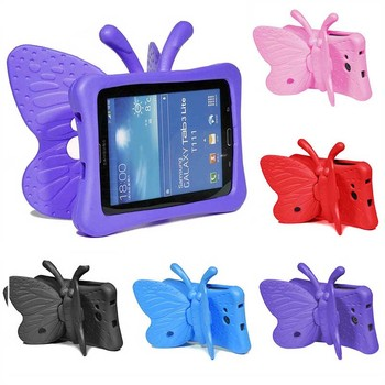 цена на Kids Shockproof EVA Case For Samsung Galaxy Tab 3 4 7.0 inch T210 T230 Tab E Lite T113 Children Cartoon Butterfly Tablet Cover