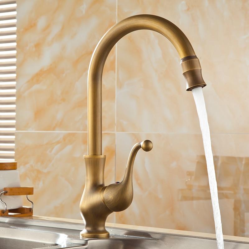 Kitchen Faucet Antique Bronze Brass Kitchen Sink Faucets Single Hand