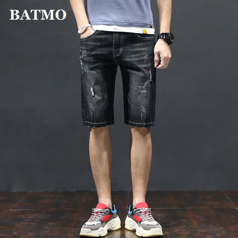 Batmo Elastic Jeans New-Arrival Shorts Casual High-Quality Men's Denim Slim W009