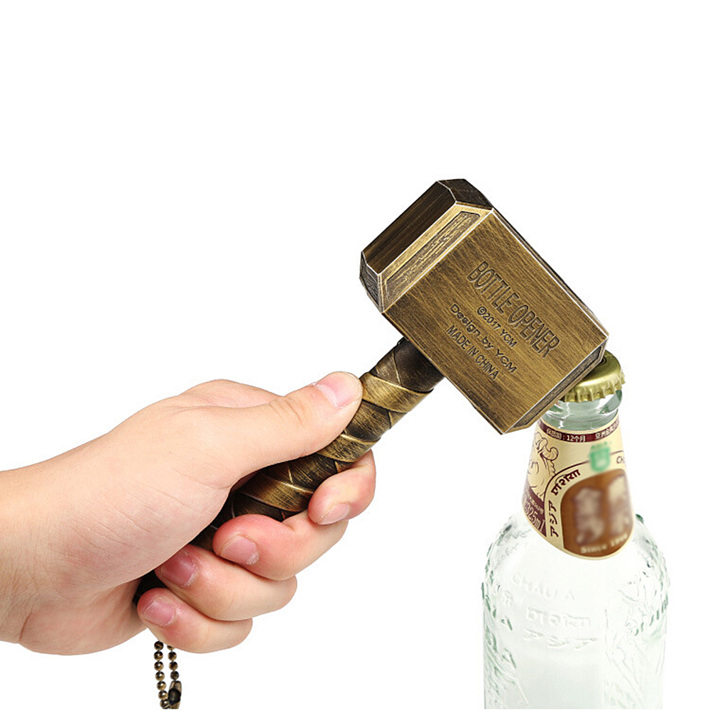 1pcs Hammer Of Thor Openers Hammer Shaped Beer Bottle Openers Soda Glass Cap Remover Tool For Kitchen Bar Household Supplies