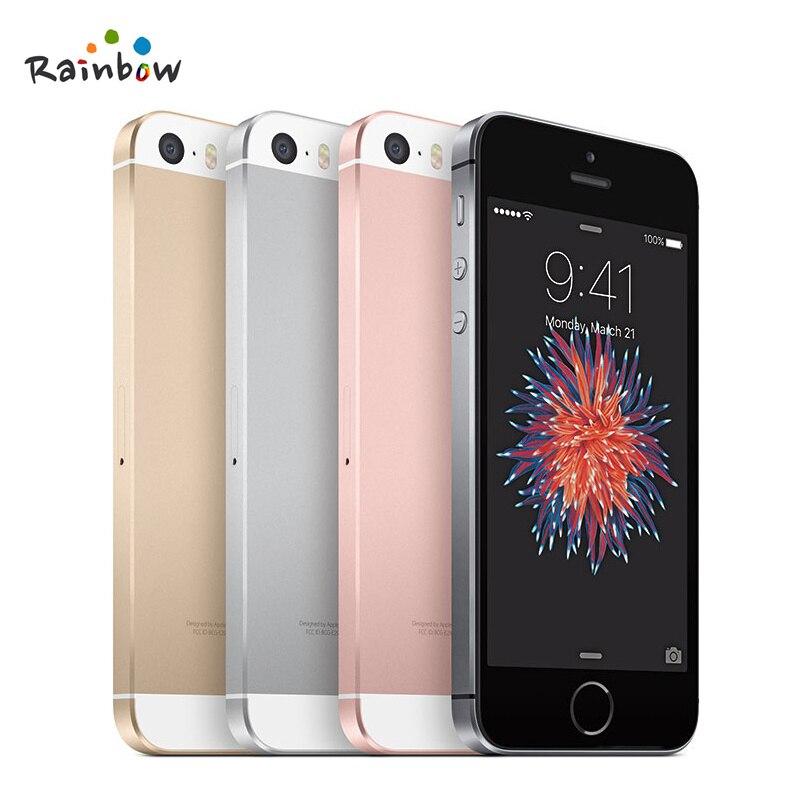 Цена за Оригинальный Разблокирована Apple iPhone SE Отпечатков Пальцев Dual core 4 Г LTE Смартфон Герметичный 2 ГБ ОПЕРАТИВНОЙ ПАМЯТИ 16/64 ГБ ROM Touch ID Мобильный телефон
