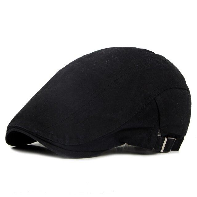 Primavera verão Inglaterra estilo boinas chapéu da boina para mulheres dos  homens algodão liso jornaleiro chapéu 8456b623f88